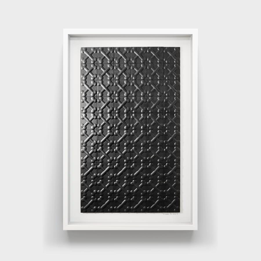 black, tile, custom, wall mounted, art,