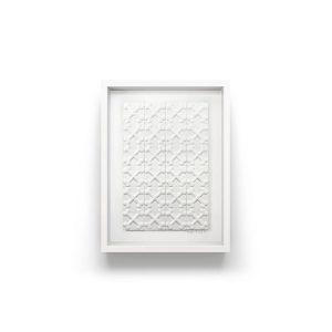 Every dog gets its bone, White Bone themed black art designer tiles, framed in white