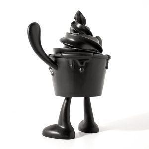 Black ice cream cup arttoy character