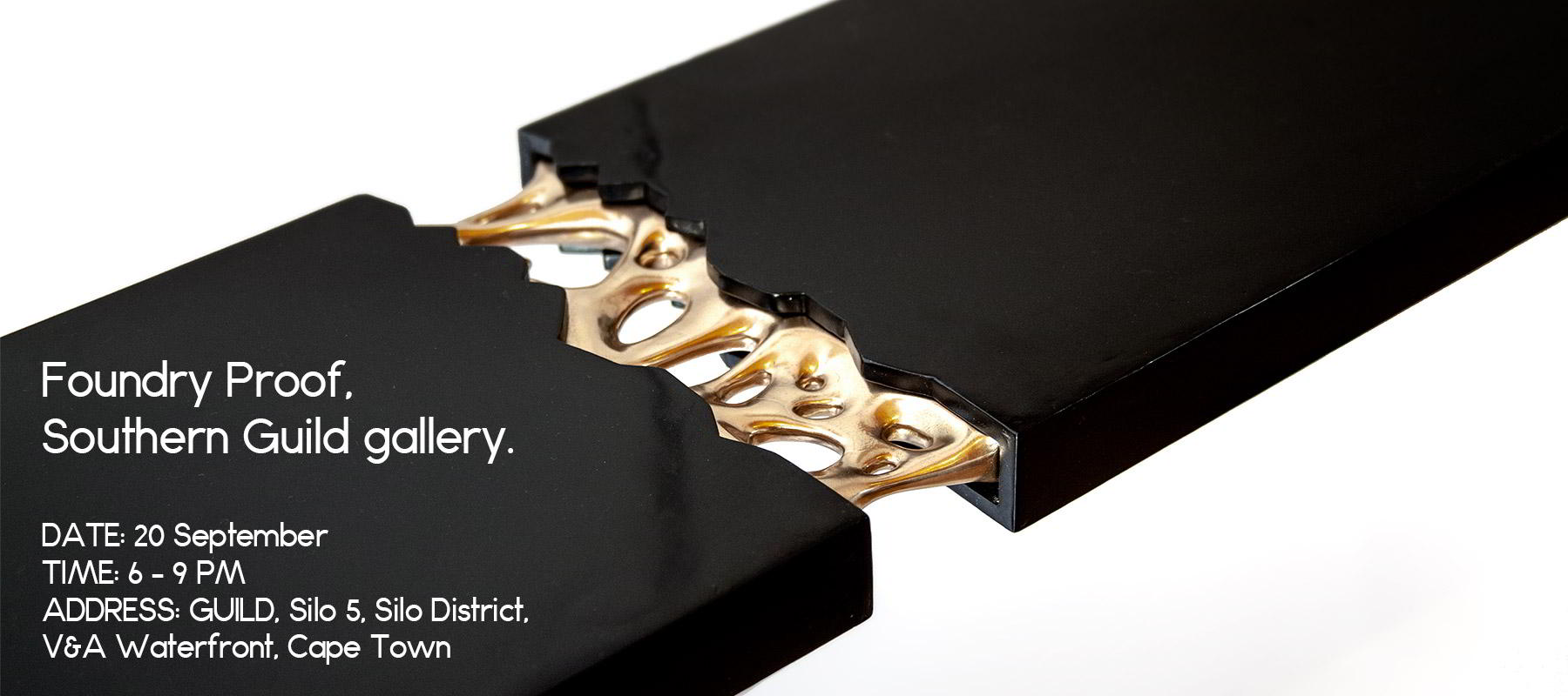Foundry proof exhibition bronze sculpture table invite
