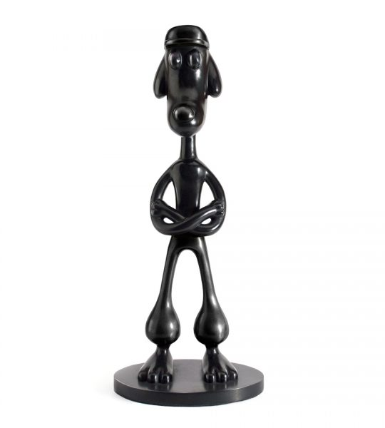 BARKING BITING FREEZING FIGHTING III (BOY) edition black of 6 Bronze Sculpture Ferdi B Dick