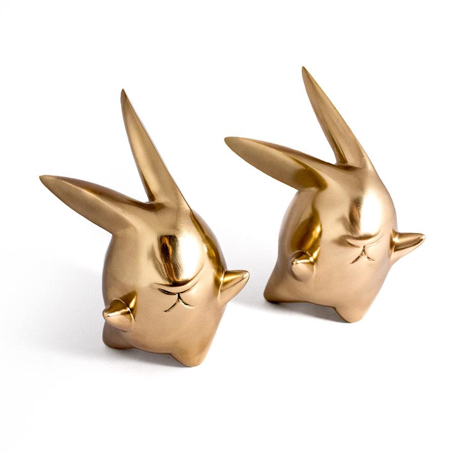 twin bunny bronze sculpture Ferdi B Dick